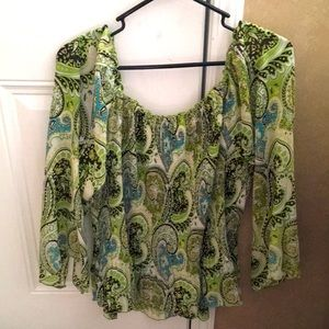 """Pretty Pre-Owned """"Cato"""" Paisley Blouse (Size XL)"""